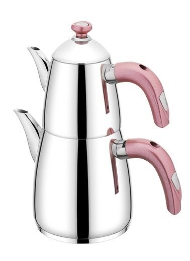 Schafer 4 Parça Nova Plus Çaydanlık Takımı - Pembe Pembe